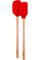 Tovolo Candy Apple Red Flex-Core Wood Handled Mini Spatula & Spoonula