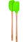 Tovolo Spring Green Flex-Core Wood Handled Mini Spatula & Spoonula