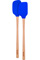 Tovolo Stratus Blue Flex-Core Wood Handled Mini Spatula & Spoonula