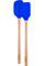 Tovolo Stratus Blue Flex-Core Wood Handled Mini Spatula & Spoonula