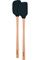 Tovolo Charcoal Flex-Core Wood Handled Mini Spatula & Spoonula