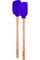 Tovolo Vivid Violet Flex-Core Wood Handled Mini Spatula & Spoonula