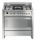 "Smeg Opera 36"" Stainless Steel Free-Standing Dual Fuel Range"