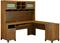 Bush Furniture Achieve L Shape Home Office Desk With Hutch In Warm Oak