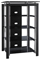 Bush Furniture Midnight Mist Textured Black Paint Audio Tower