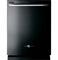 "GE 24"" Artistry Series Black Built-In Dishwasher"
