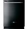 "GE 24"" Artistry Series Black Built-In Dishwasher"