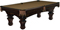 Brunswick Ashbee 8 Ft. Espresso And Sahara Billiard Table Package