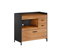 BDI Aspect 6231 Natural Walnut And Black Desk