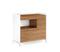 BDI Aspect 6231 Natural Walnut And Satin White Desk