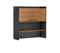 BDI Aspect  6234 Natural Walnut And Black Storage Hutch