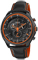 Citizen Eco-Drive WDR Black & Orange Stainless Steel Mens Watch
