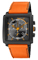 Citizen Eco-Drive MFD Black & Orange Mens Watch