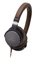 Audio Technica Navy And Brown On-Ear High-Resolution Audio Headphones