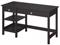 Bush Furniture Broadview Espresso Oak Open Storage Desk
