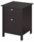 Bush Furniture Broadway Espresso Oak 24W 2 Drawer Pedestal