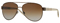 Burberry Brushed Brown Pilot Womens Sunglasses