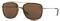 Burberry Brushed Light Gold Square Mens Sunglasses