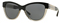 Burberry Top Black On Grey Cat-Eye Womens Sunglasses