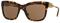 Burberry Dark Havana Square Womens Sunglasses