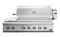 "DCS 48"" Stainless Steel Traditional Built-In Natural Gas Grill With Rotisserie And Side Burners"