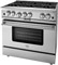 "BlueStar 36"" Platinum Series Stainless Steel Freestanding Liquid Propane Range"