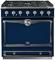 "La Cornue 36"" CornuFe 90 Dark Navy Blue With Satin Chrome Dual Fuel Range"