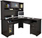 Bush Furniture Cabot Espresso Oak L Desk With Hutch - CAB001EPO