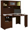 Bush Furniture Cabot Collection Harvest Cherry Corner Desk With Hutch
