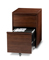 BDI Cascadia 6207 Chocolate Stained Walnut Mobile File Cabinet