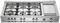 "Bertazzoni Professional Series 48"" Stainless Steel Rangetop"
