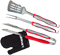 Cuisinart Red 3 Piece Grilling Tool Set With Grill Glove