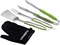 Cuisinart Green 3 Piece Grilling Tool Set With Grill Glove
