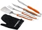 Cuisinart Orange 3 Piece Grilling Tool Set With Grill Glove