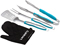 Cuisinart Turquoise 3 Piece Grilling Tool Set With Grill Glove