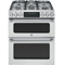 "GE Cafe 30"" Stainless Slide-In Double Oven Gas Range"