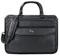 """Solo Classic Collection Black 15.6"""" Triple Compartment Briefcase"""