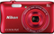 Nikon Coolpix S3700 20.1 Megapixel Red Digital Camera