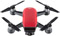 DJI Spark Lava Red Quadcopter Fly More Combo