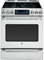 "GE Cafe Series 30"" Stainless Steel Slide-In Electric Convection Range"