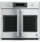 "GE Cafe Series 30"" Stainless Steel Built-In  French-Door Single Convection Wall Oven"