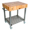 John Boos & Co. Cucina D'Amico Hard Maple Top Cart