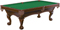 Brunswick Danbury Chestnut And Green Billiard Table Package