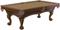 Brunswick Danbury 8 Ft. Chestnut And Sahara Billiard Table Package