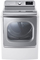 LG White Mega Capacity Electric TurboSteam Dryer