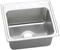Elkay Gourmet Lustertone Stainless Steel Single Bowl Top Mount Sink