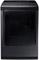 Samsung Black Stainless Steel Gas Steam Dryer