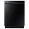 "Samsung 24 "" Black Dishwasher With Stainless Steel Tub"