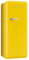 Smeg 50s Retro Style Aesthetic Right Hinge Yellow Refrigerator