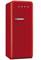 Smeg 50s Retro Style Aesthetic Right Hinge Red Refrigerator